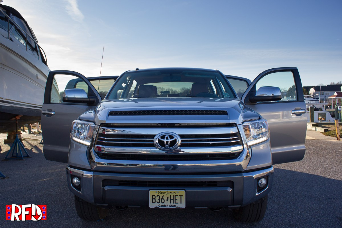 Front View of a silver 2017 Toyota Tundra 1794 Edition