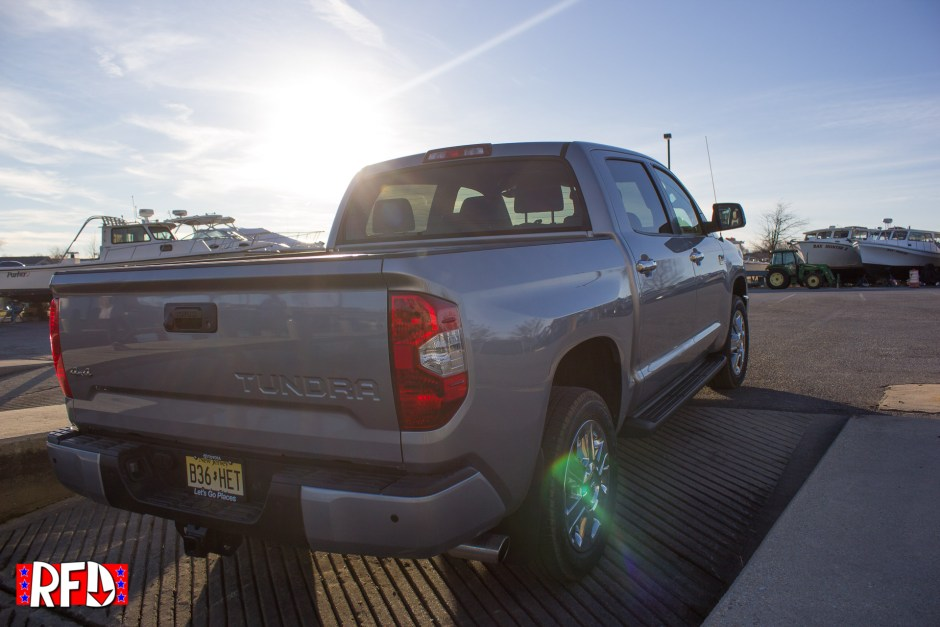 Silver 2017 Toyota Tundra 1794 Edition by boat loading docks