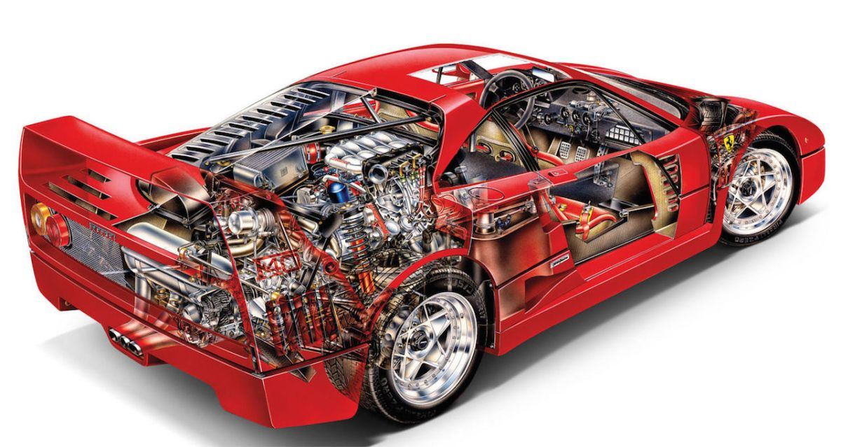F40 cutaway