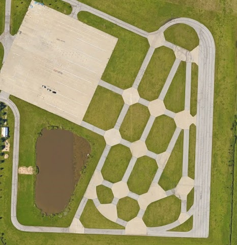 Autocross site aerial view