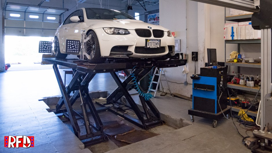 Josh's E92 M3 getting an alignment at PTUNING