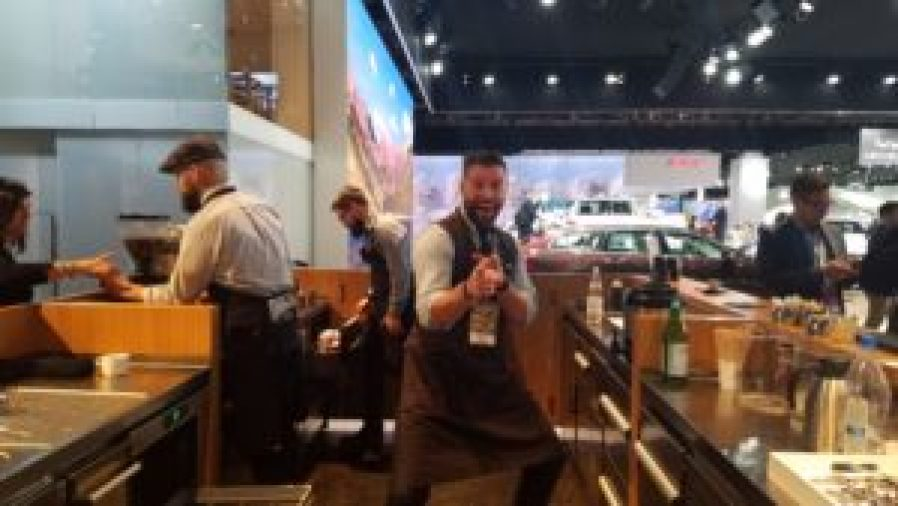 NAIAS Volvo Coffee Booth