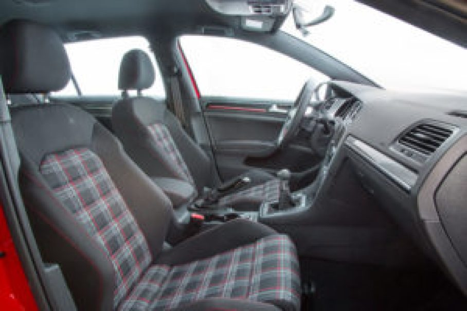 Just look at the interior of the Volkswagen Golf GTI