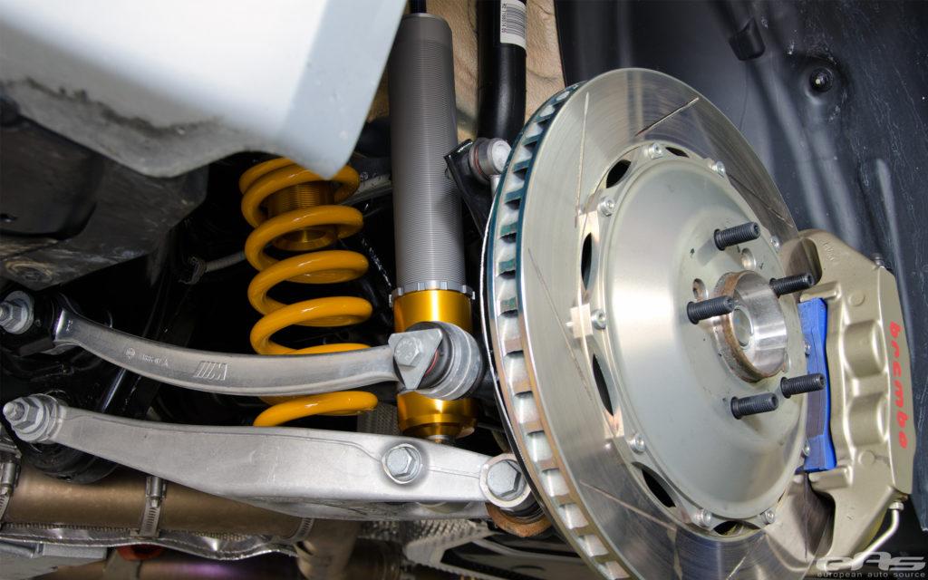 Rear Coilover Suspension on an E92 M3