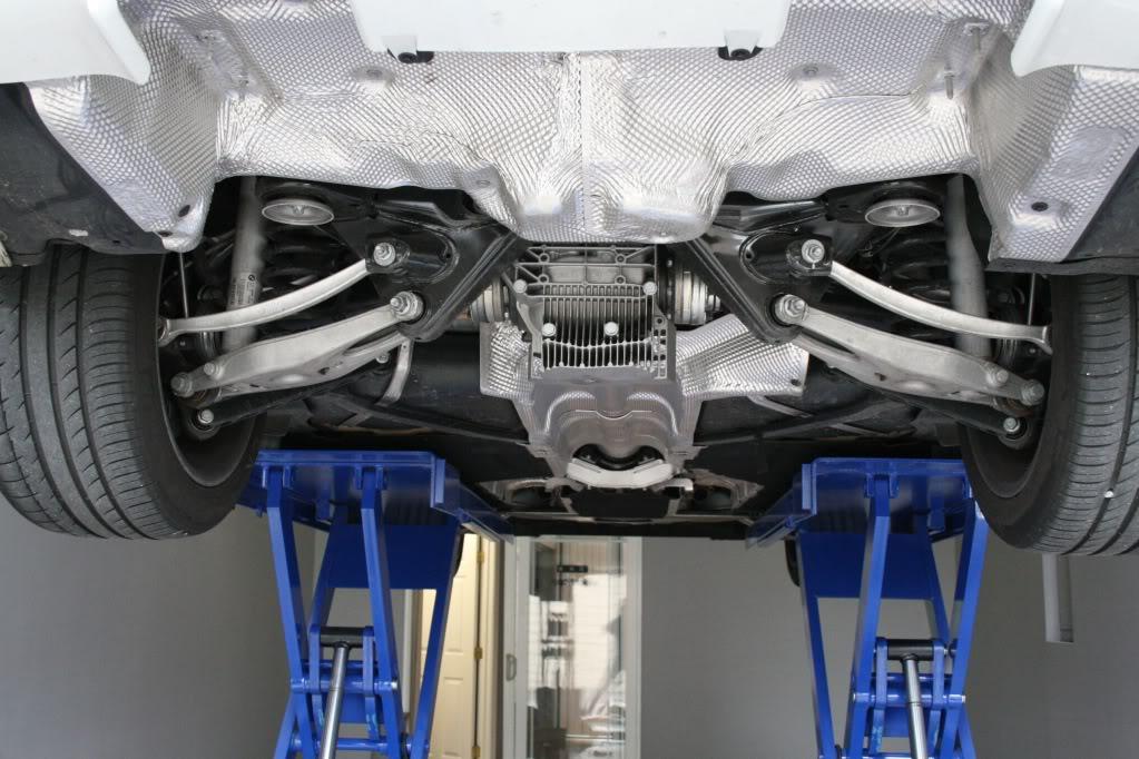 View of E92 M3 Rear Suspension