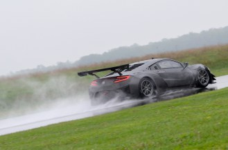 Acura NSX GT3 Race Car testing at Gingerman Raceway
