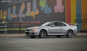 Silver Nissan Skyline GT-R