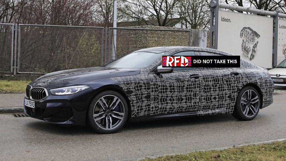 Bmw 8 Series Gran Coupe Spied Right Foot Down