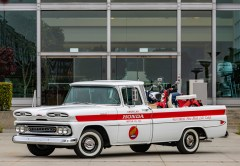 Restored Chevy delivery pickup truck for American Honda