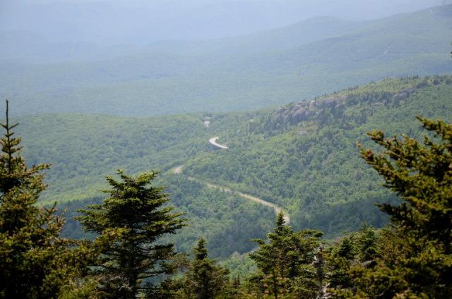 The view of the Blue Ridge Parkway