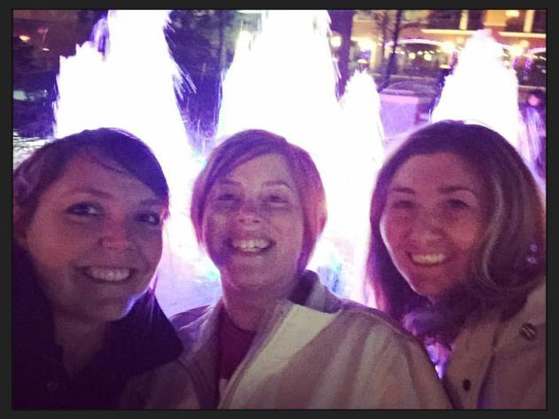 Our selfie with a fountain.