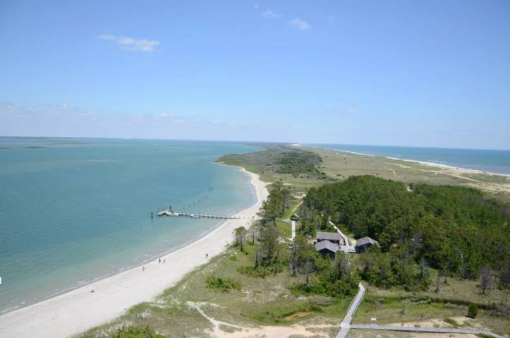 The view from the lighthouse at Cape Lookout National Seashore in North Carolina.