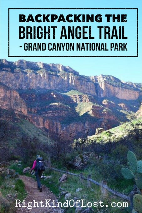 Backpacking the Bright Angel Trail in Grand Canyon National Park. When hiking from the rim to the river, this is a great trail. It is well built so the evelvation gain does not get to you as bad. It is also great for those who have a fear of heights.
