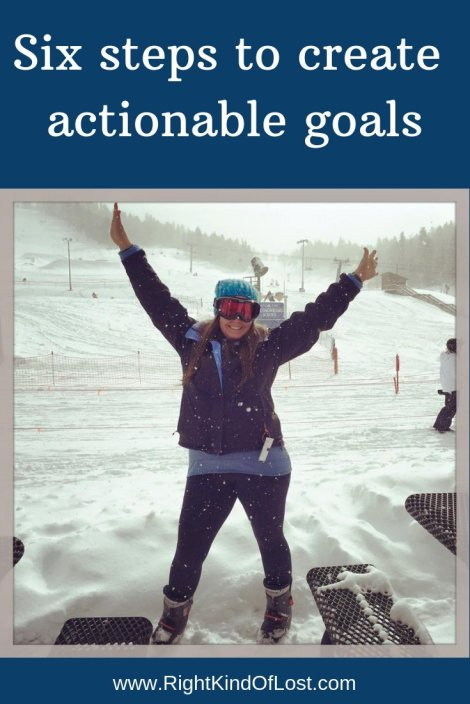 Six steps to create actionable goals so you can turns your wishes into accomplishments.