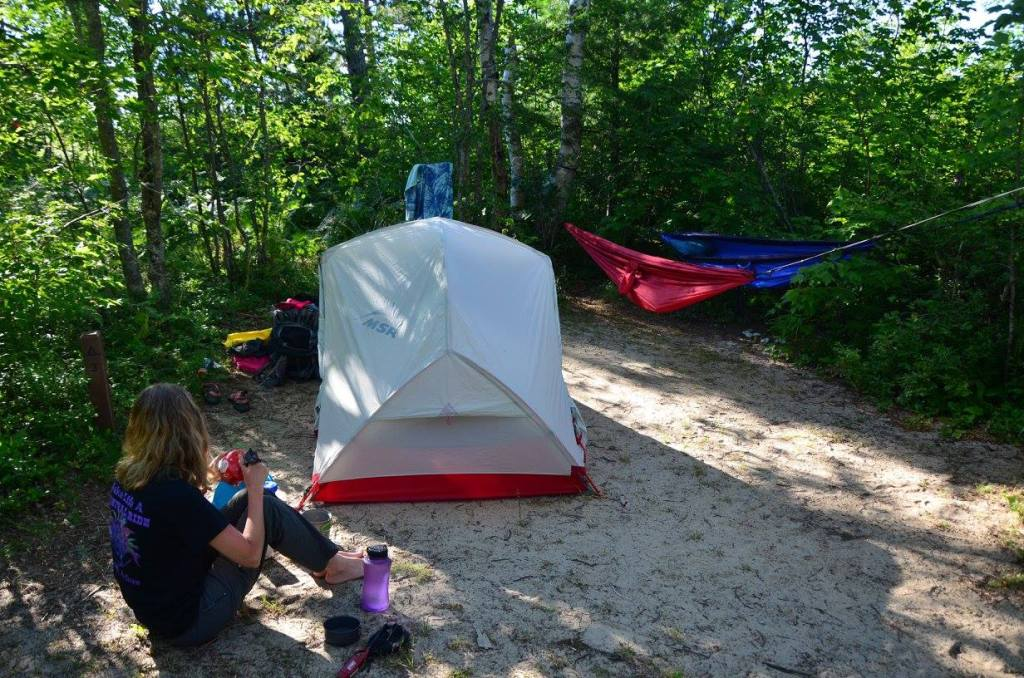 Leave No Trace Principle 2 tells us camping on sand is a durable surface