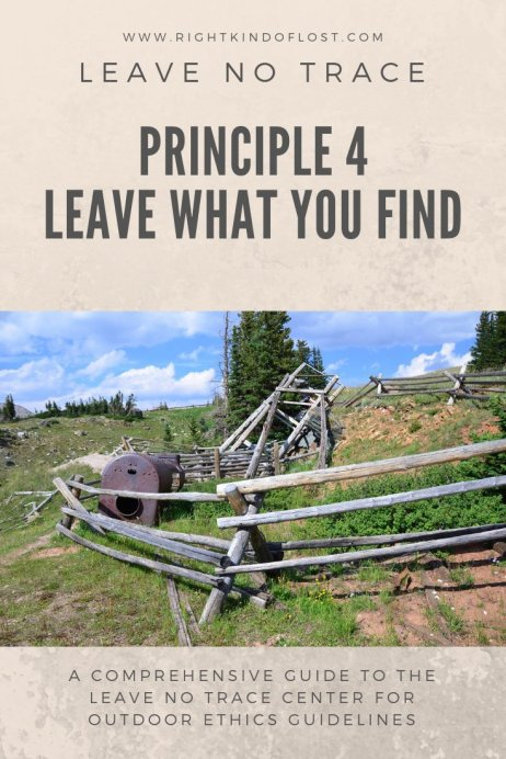 Leave No Trace Principle 4 – Leave What You Find helps us preserve natural spaces for others who come after us to enjoy the same as we do.