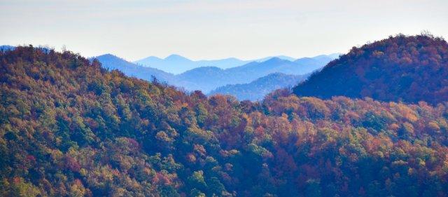 Buckeye Mountain Trail provides the best views in the Ouachita Mountains