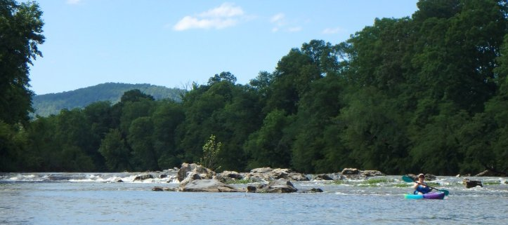 A few of the rapids are shown