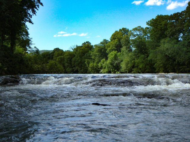 Rapids are showns on the Caddo River
