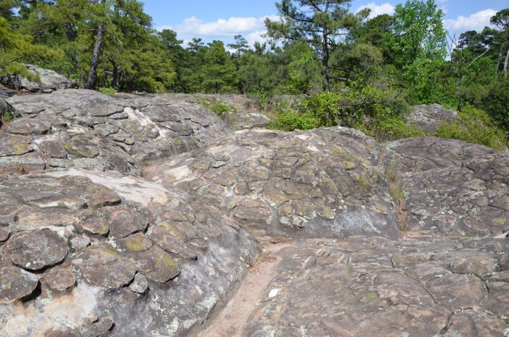 Turtle Rocks are shown at Petit Jean State Park