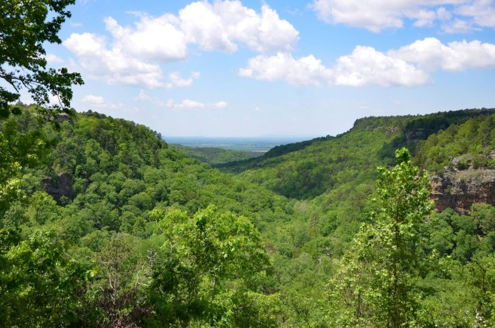 The view from Mather Lodge at Petit Jean State Park is one of the five best vistas in the Ouachita Mountains