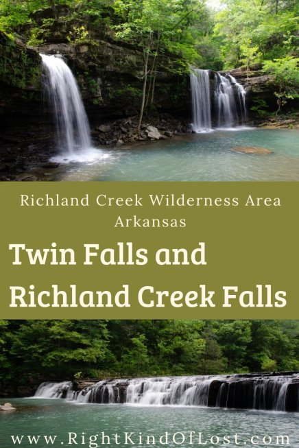 Twin Falls and Richland Creek Falls in the Richland Creek Wilderness area in north Arkansas is a wonderful day hike. But with no official trial, this bushwhack makes you work for it!