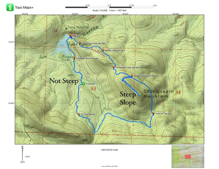 A map of Lake Sylvia Recreation Area is shown