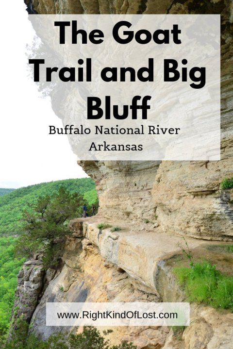 Big Bluff along the Goat Trail along the Buffalo National River in northern Arkansas is an amazing hike with excellent views, but can make your palms sweat as it takes you along the narrow ledge of the cliff.
