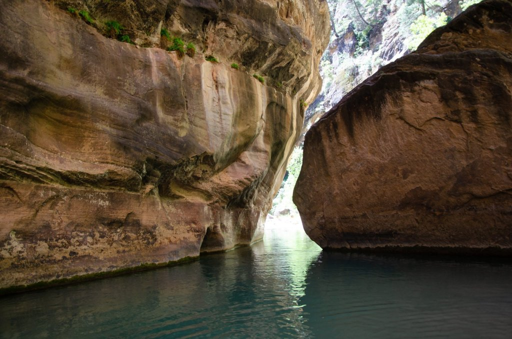 A deep pool is shown in The Narrows