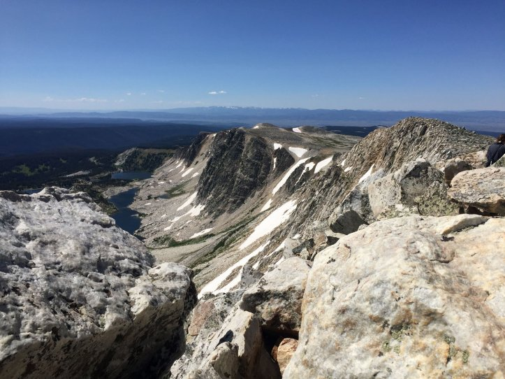 Medicine Bow Peak in Wyoming is shown on a budget travel road trip