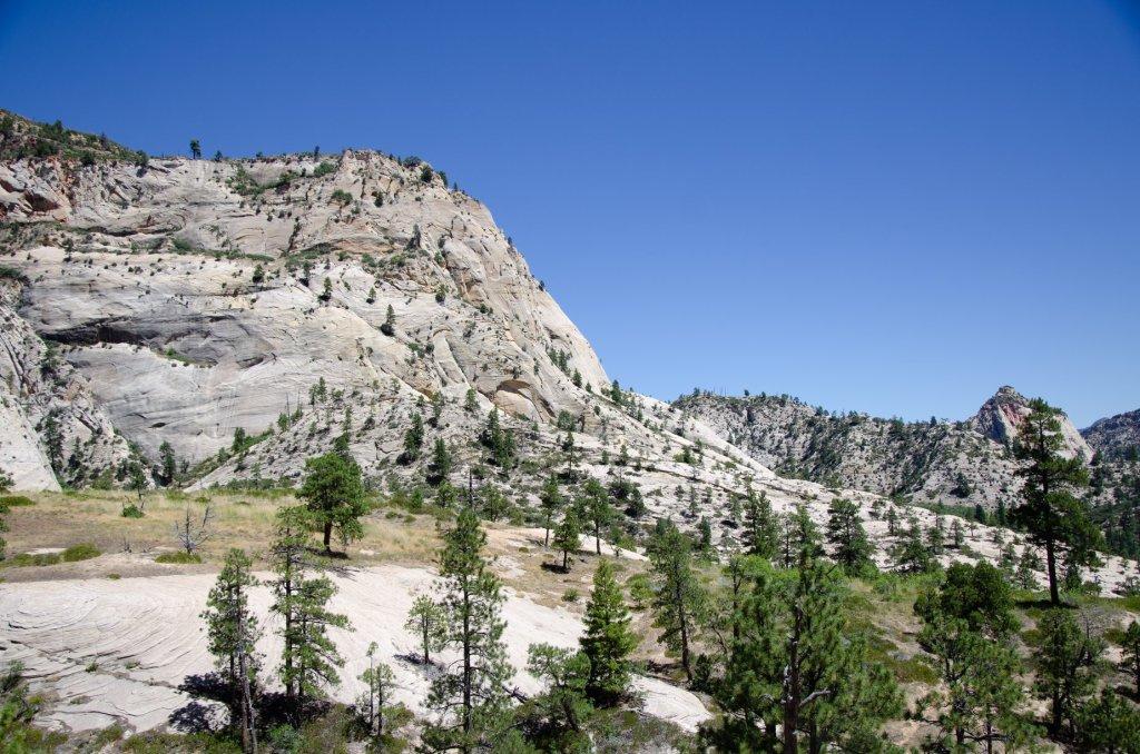 The baren terrain is shown