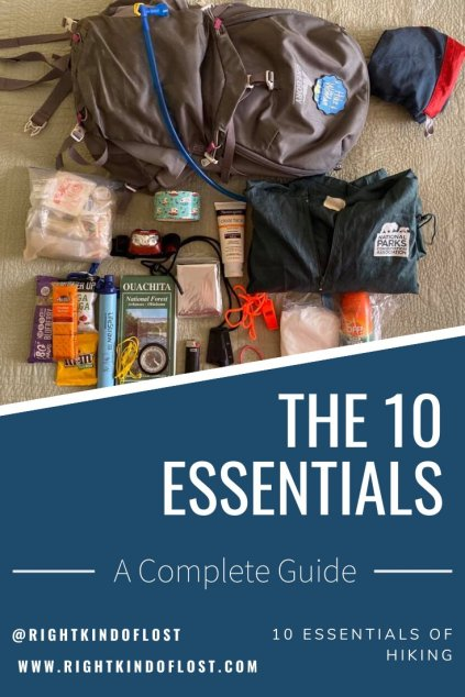 The 10 essentials of hiking are items to carry with you at all times, even on a short day hike, because you never know when the unexpected will happen.