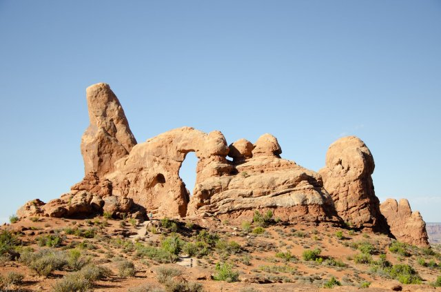 Arches National Park is shown along the road trip for Utah's Mighty Five