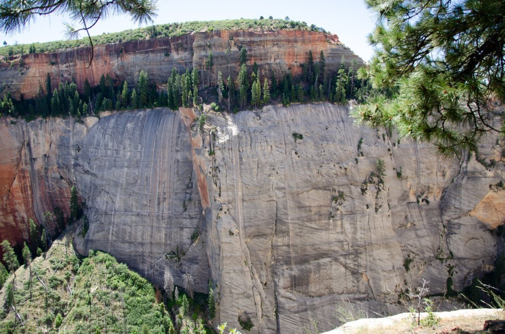 Unique rock formations are shown at Zion National Park
