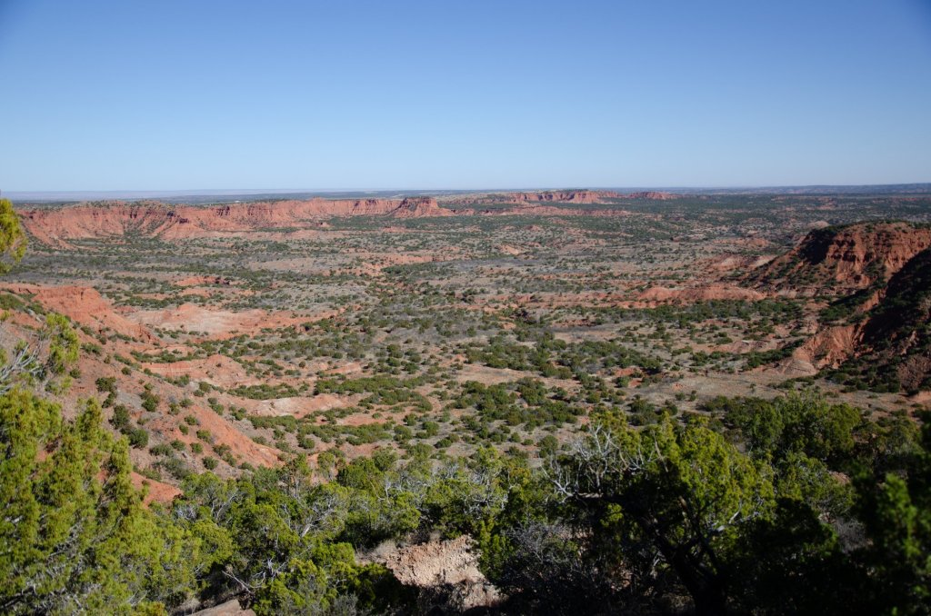 Hiking at Caprock Canyons