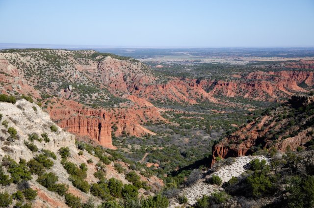 The view from the top of Haynes Ridge Overlook Trail