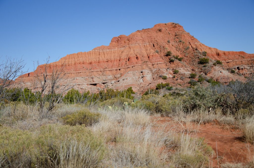 Hiking along Caprock Canyons State Park