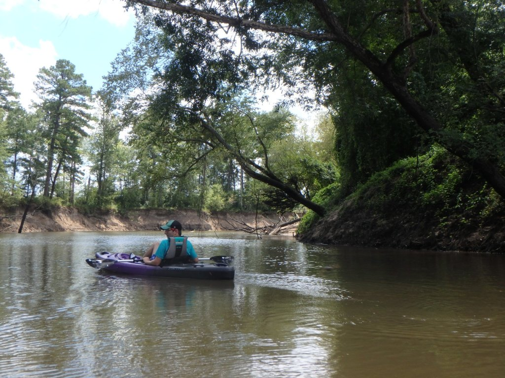 Noah floats down the Saline River