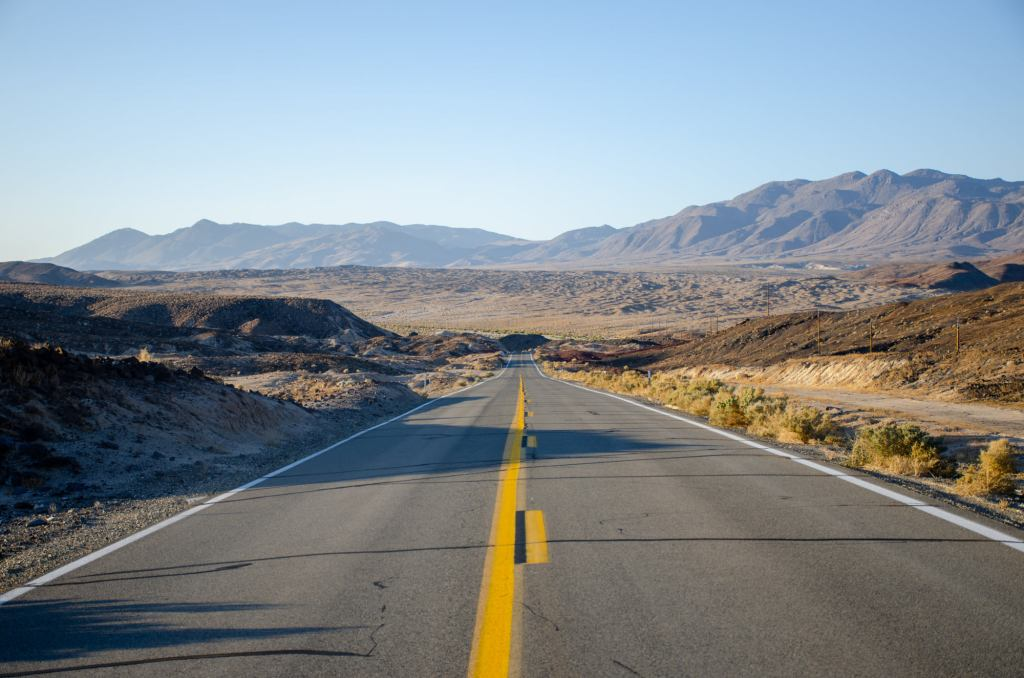 Death Valley is large with lots of roads to drive