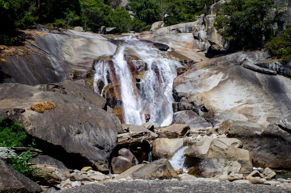Mist Falls in Kings Canyon National Park is shown