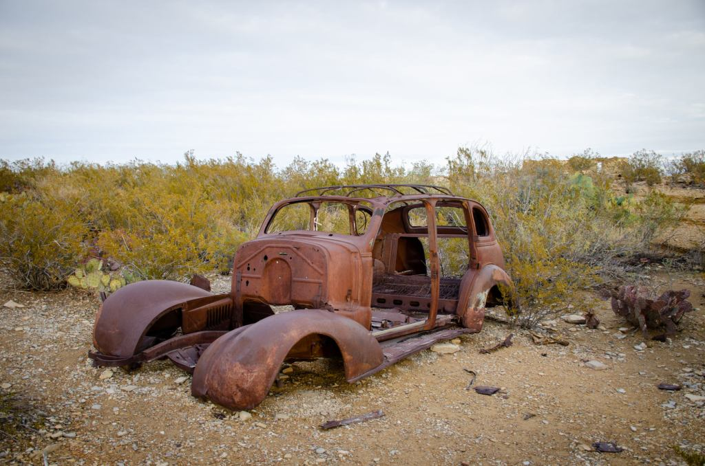 An Old Car is shown