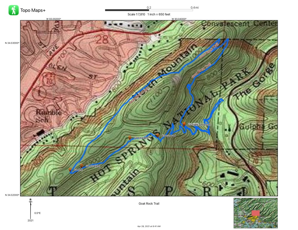 A map is shown of the Goat Rock Trail