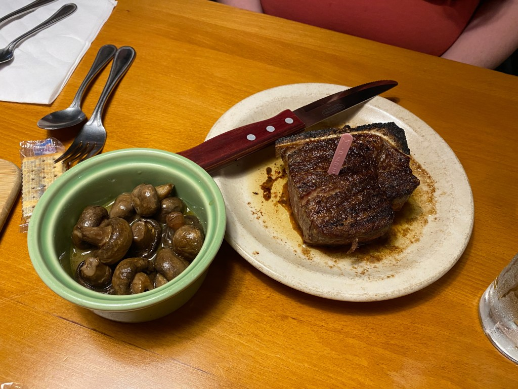 A steak from Taylor's is shown