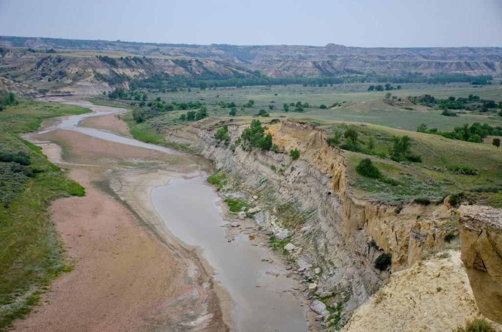 The Little Missouri River is shown at Theodore Roosevelt National Park