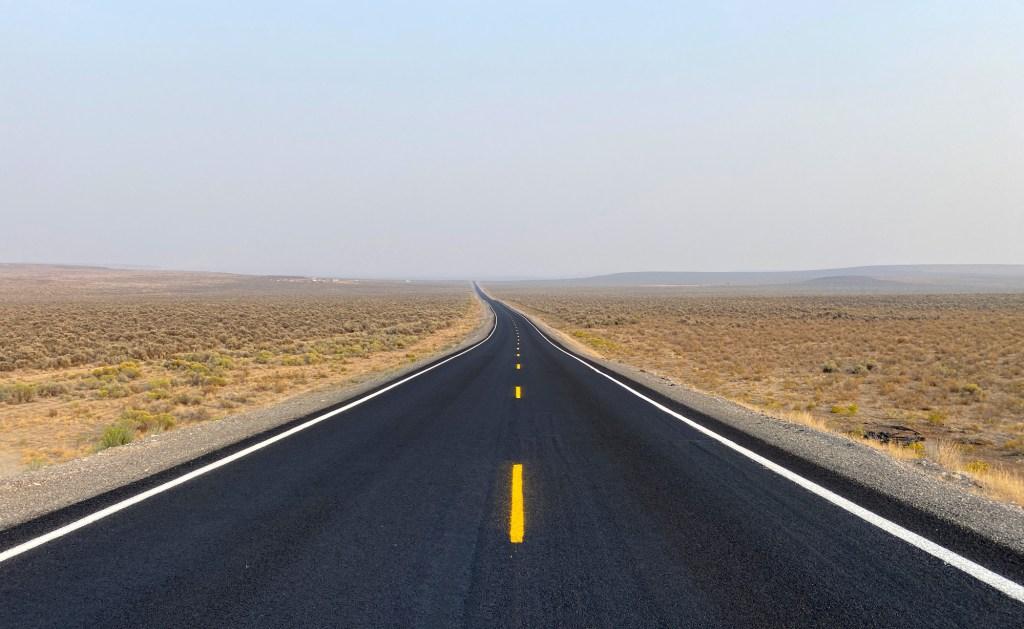 An open road is shown