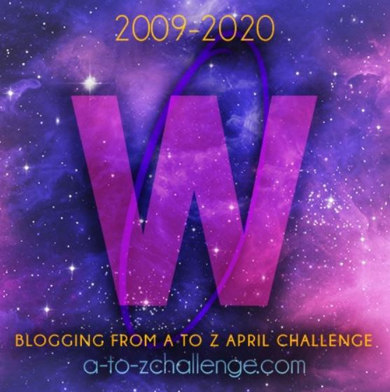 Shows W for wordpress as a part of the #AtoZchallenge