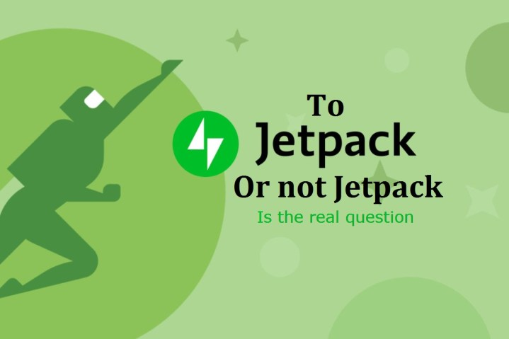 """Jetpack Logo along with a saying """"To Jetpack or not Jetpack is the real question"""""""