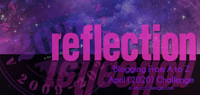 This is a reflection badge as a part of the #AtoZchallenge