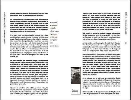 buenos aires e-book, a spread