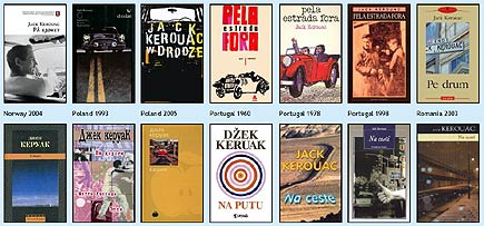 graphic design: covers of jack kerouac's on the road